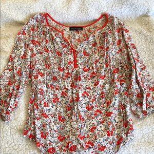 Floral 3/4 sleeve shirt